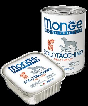 Monge Dog Monoprotein Solo консервы для собак паштет из индейки купить в дискаунтере товаров для животных Крокодильчик