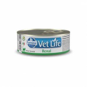 Farmina Vet Life Cat Renal влажная диета для кошек для поддержания функции почек при почечной недостаточности, 85 г купить в дискаунтере товаров для животных Крокодильчик