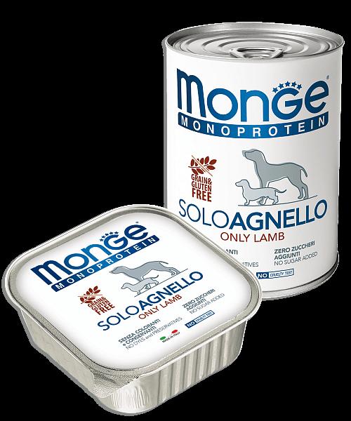 Monge Dog Monoprotein Solo консервы для собак паштет из ягненка купить в дискаунтере товаров для животных Крокодильчик