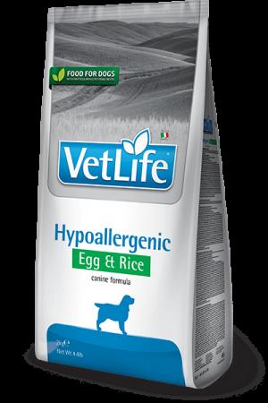 Farmina Vet Life Dog Hypoallergenic Egg & Rice купить в дискаунтере товаров для животных Крокодильчик в Москве