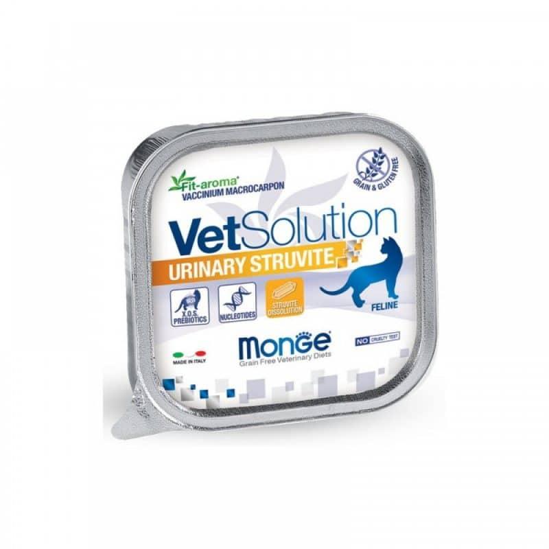 Monge VetSolution Cat диета Urinary Struvite консервы для кошек, 100 г купить в дискаунтере товаров для животных Крокодильчик