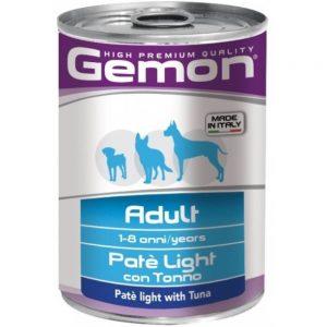 Monge Gemon Dog облегчённый паштет для собак с тунцом, 400 г купить в дискаунтере товаров для животных Крокодильчик