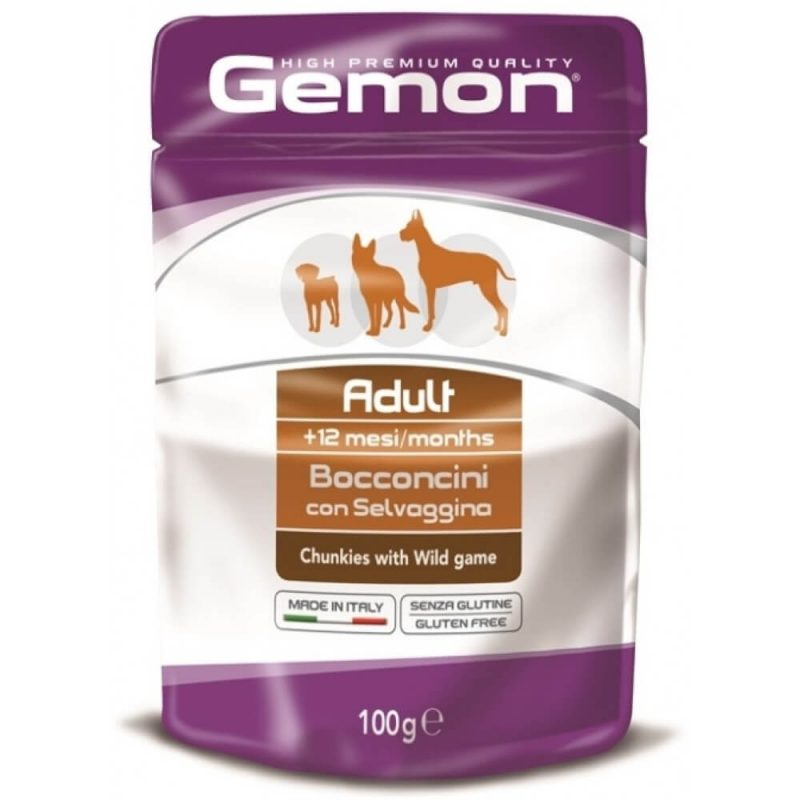 Monge Gemon Dog Pouch паучи для пожилых собак кусочки индейки купить в дискаунтере товаров для животных Крокодильчик