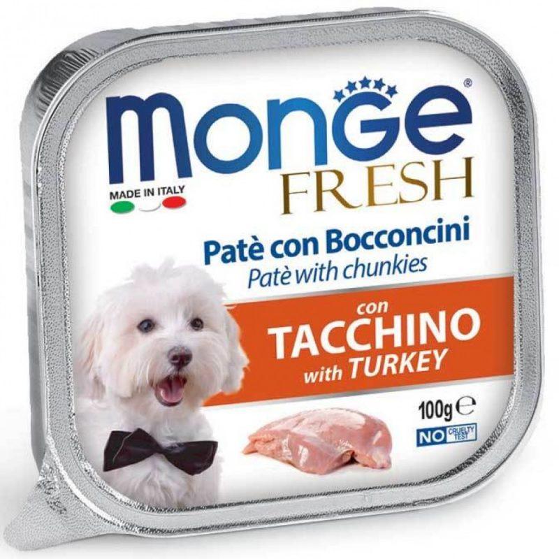 Monge Dog Fresh консервы для собак со вкусом индейки, 100 г. купить в дискаунтере товаров для животных Крокодильчик