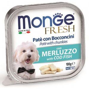 Monge Dog Fresh консервы для собак с треской, 100 г. купить в дискаунтере товаров для животных Крокодильчик