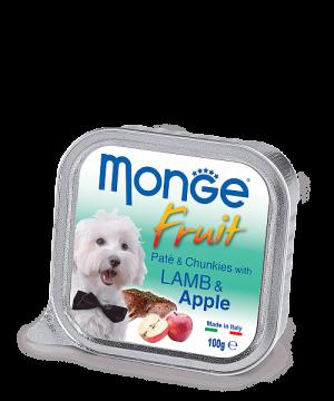 Monge Dog Fruit Pate & Chunkies паштет из ягненка с яблоком, 100 г. купить в дискаунтере товаров для животных Крокодильчик