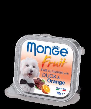 Monge Dog Fruit Pate & Chunkies паштет из утки с апельсином, 100 г. купить в дискаунтере товаров для животных Крокодильчик