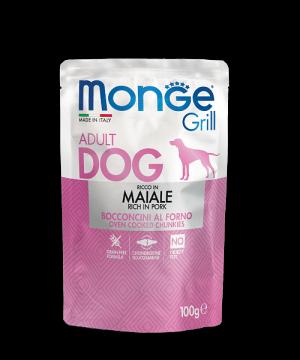 Monge Dog Grill Pouch - Паучи для собак со свининой купить в дискаунтере товаров для животных Крокодильчик
