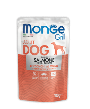 Monge Dog Grill Pouch - Паучи для собак с лососем купить в дискаунтере товаров для животных Крокодильчик