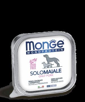 Monge Dog Monoprotein Solo консервы для собак паштет из свинины купить в дискаунтере товаров для животных Крокодильчик