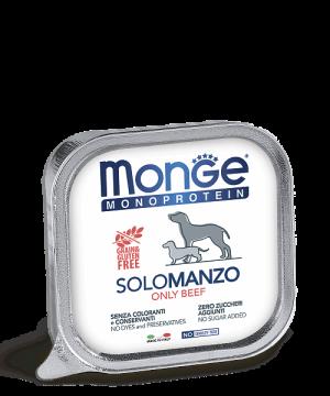 Monge Dog Monoprotein Solo консервы для собак паштет из говядины купить в дискаунтере товаров для животных Крокодильчик