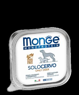 Monge Dog Monoprotein Solo консервы для собак паштет из оленины купить в дискаунтере товаров для животных Крокодильчик