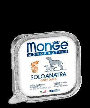 Monge Dog Monoprotein Solo консервы для собак паштет из утки купить в дискаунтере товаров для животных Крокодильчик