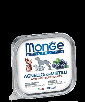 Monge Dog Monoprotein Solo консервы для собак паштет из ягненка с черникой купить в дискаунтере товаров для животных Крокодильчик