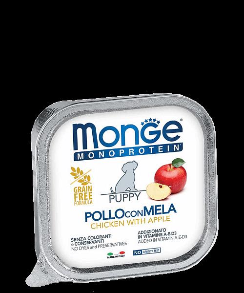 Monge Dog Monoprotein Solo консервы для собак паштет из курицы с яблоком купить в дискаунтере товаров для животных Крокодильчик