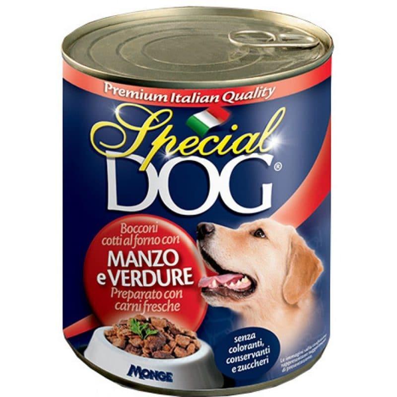 Monge Special Dog консервы для собак кусочки говядины с овощами купить в дискаунтере товаров для животных Крокодильчик