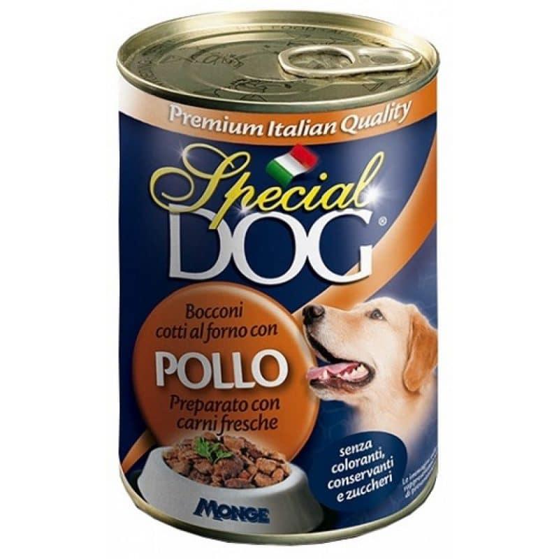 Monge Special Dog - Консервы для собак кусочки курицы купить в дискаунтере товаров для животных Крокодильчик
