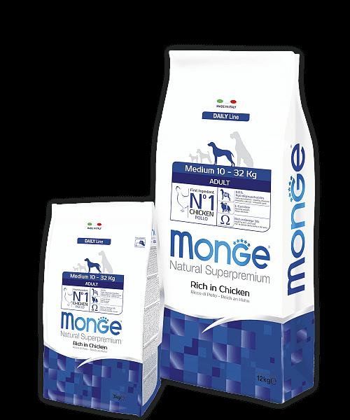 Monge Dog Medium корм для взрослых собак средних пород купить в дискаунтере товаров для животных Крокодильчик