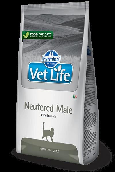 Farmina Vet Life Cat Neutered Male полнорационное и сбалансированное питание для взрослых кастрированных котов купить в дискаунтере товаров для животных Крокодильчик