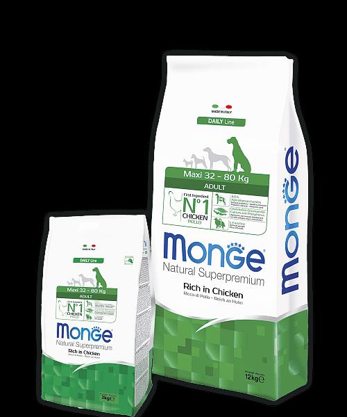Monge Dog Maxi Adult корм для взрослых собак крупных пород купить в дискаунтере товаров для животных Крокодильчик