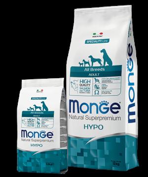 Monge Dog Speciality Line All Breeds ADULT HYPO SALMONE & TUNA купить в дискаунтере товаров для животных Крокодильчик в Москве