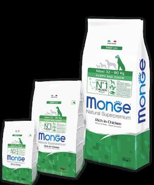 Monge Dog Maxi Puppy & Junior корм для щенков крупных пород купить в дискаунтере товаров для животных Крокодильчик