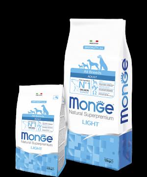 Monge Dog Speciality Line ADULT LIGHT SALMONE купить в дискаунтере товаров для животных Крокодильчик в Москве