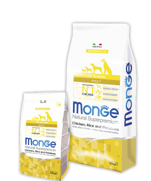 Monge Dog Speciality Line All Breeds ADULT CHICKEN, RICE & POTATOES купить в дискаунтере товаров для животных Крокодильчик в Москве