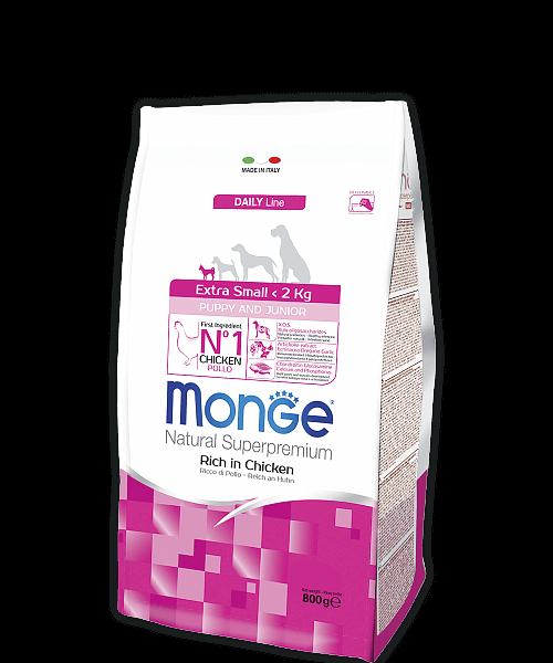 Monge Dog Extra Small корм для щенков миниатюрных пород с курицей купить в дискаунтере товаров для животных Крокодильчик