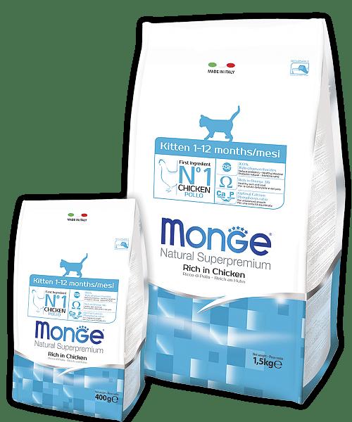 Monge Cat Superpremium Kitten сухой корм для котят, беременных и кормящих кошек купить в дискаунтере товаров для животных Крокодильчик