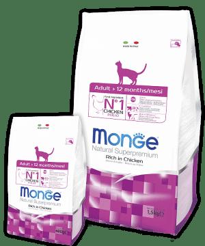 Monge Cat Superpremium Adult Cat сухой корм для взрослых кошек купить в дискаунтере товаров для животных Крокодильчик
