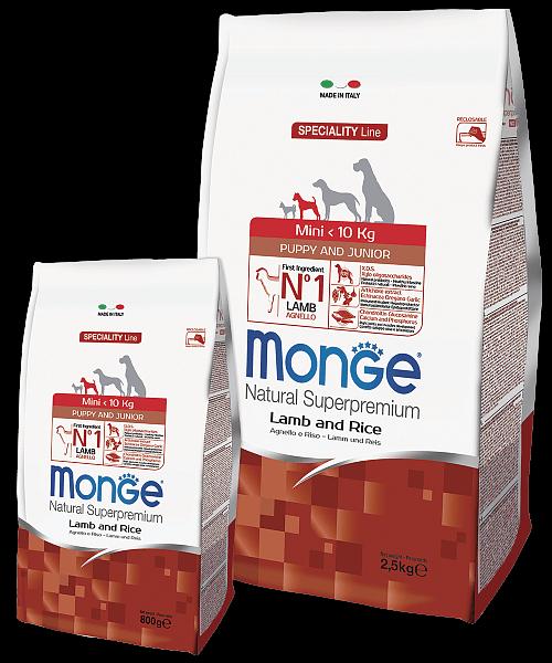 Monge Dog Speciality Line Mini Puppy & Junior Lamb and Rice купить в дискаунтере товаров для животных Крокодильчик в Москве