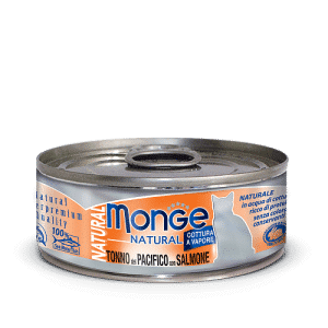 Monge Cat Natural TONNO del PACIFICO con SALMONE консервы для кошек с тунцом и лососем, 80 г купить в дискаунтере товаров для животных Крокодильчик