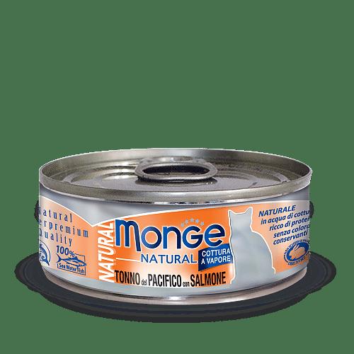 Monge Cat Natural TONNO del PACIFICO con SALMONE консервы для кошек с тунцом и лососем, 80 г купить в дискаунтере товаров для животных Крокодильчик