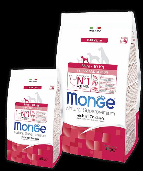 Monge Dog Mini Puppy & Junior корм для щенков мелких пород (с 2-х месяцев) купить в дискаунтере товаров для животных Крокодильчик