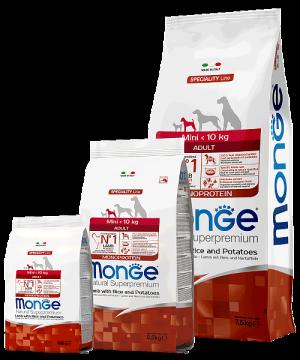 Monge Dog Speciality Line Mini Adult Lamb, Rice and Potatoes купить в дискаунтере товаров для животных Крокодильчик в Москве