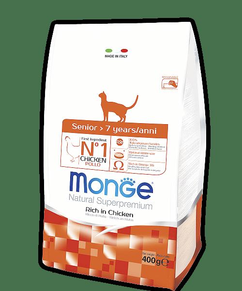 Monge Superpremium Senior Cat сухой корм для пожилых кошек купить в дискаунтере товаров для животных Крокодильчик