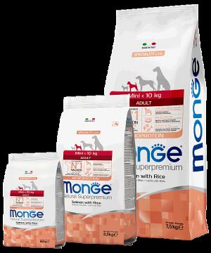 Monge Dog Speciality Line Mini Adult Salmone and Rice купить в дискаунтере товаров для животных Крокодильчик в Москве