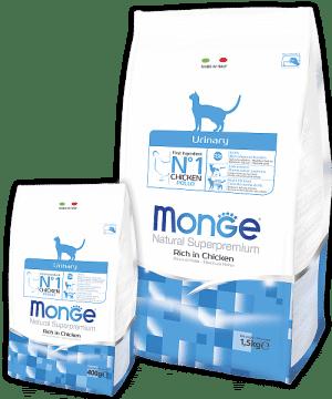 Monge Superpremium Urinary Cat сухой корм для профилактики мочекаменной болезни у кошек купить в дискаунтере товаров для животных Крокодильчик