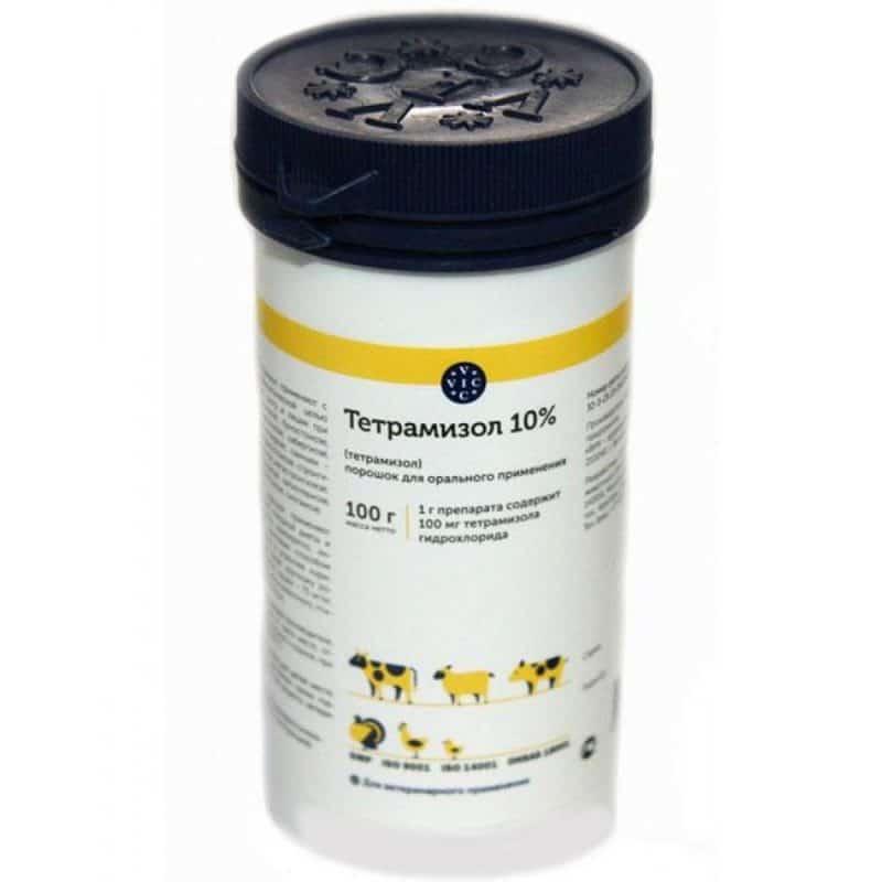 Тетрамизол 10% купить в дискаунтере товаров для животных Крокодильчик