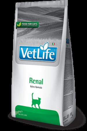 Farmina Vet Life Cat Renal сухая диета для кошек Фармина Ренал купить в дискаунтере товаров для животных Крокодильчик