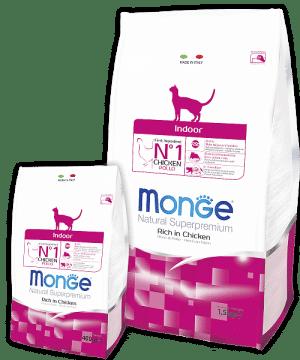 Monge Superpremium Indoor Сat корм для кошек, живущих в помещении купить в дискаунтере товаров для животных Крокодильчик