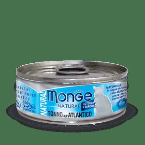 Monge Cat Natural TONNO dell'ATLANTICO консервы для кошек с атлантическим тунцом, 80 г купить в дискаунтере товаров для животных Крокодильчик