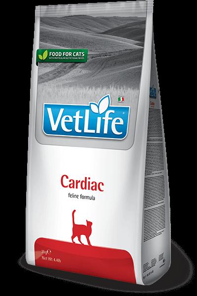 Farmina Vet Life Cat Cardiac диета для кошек при хронической сердечной недостаточности купить в дискаунтере товаров для животных Крокодильчик