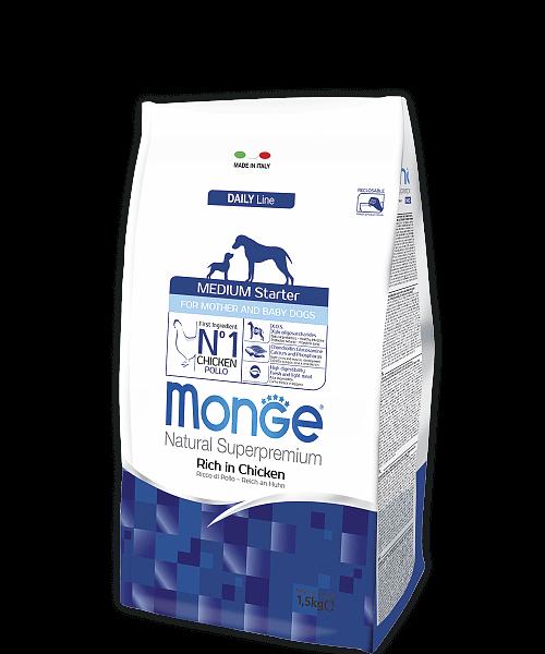Monge Dog Medium Starter корм для щенков средних пород купить в дискаунтере товаров для животных Крокодильчик