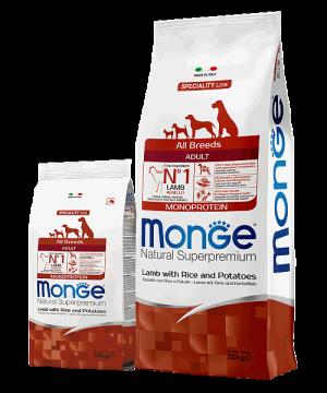 Monge Dog Speciality Line All Breeds Adult Lamb, Rice and Potatoes купить в дискаунтере товаров для животных Крокодильчик в Москве