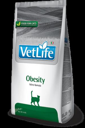 Farmina Vet Life Cat Obesity диетический корм для кошек для снижение избыточного веса купить в дискаунтере товаров для животных Крокодильчик
