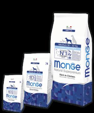 Monge Dog Medium корм для щенков средних пород купить в дискаунтере товаров для животных Крокодильчик