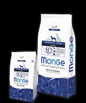 Monge Dog Medium корм для пожилых собак средних пород купить в дискаунтере товаров для животных Крокодильчик