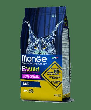 Monge BWild Cat Hare сухой корм с мясом зайца для взрослых кошек, 1,5 кг. купить в дискаунтере товаров для животных Крокодильчик